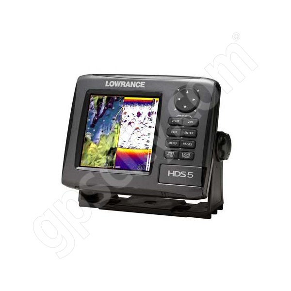 Lowrance HDS-5 Gen2 Lake Insight Fishfinder and GPS Chartplotter without Transducer