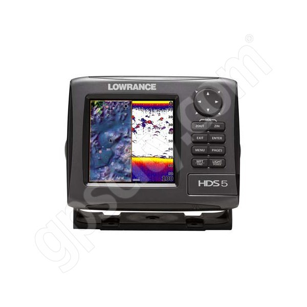 Lowrance HDS-5 Gen2 Lake Insight Fishfinder and GPS Chartplotter LSS-1 Bundle Additional Photo #1