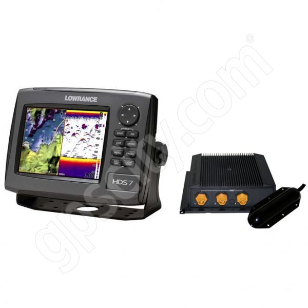 Lowrance HDS-7 Gen2 USA Insight Fishfinder and GPS Chartplotter LSS-2 Bundle