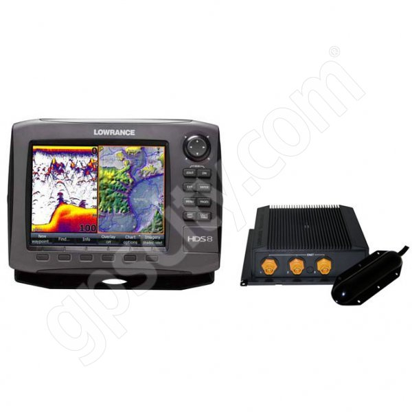 Lowrance HDS-8 Gen2 USA Insight Fishfinder and GPS Chartplotter LSS-1 Bundle