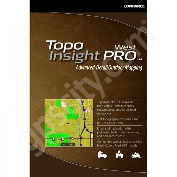 TOPO Insight PRO 2014 West microSD Card with SD Adapter