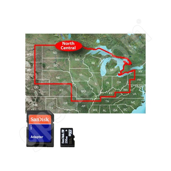 Garmin microSD Inland Lakes Vision North Central U.S.