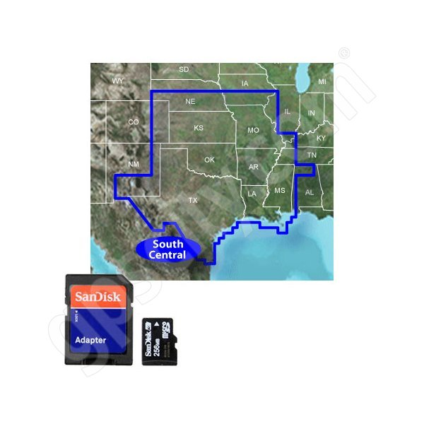 Garmin microSD Inland Lakes Vision South Central U.S.