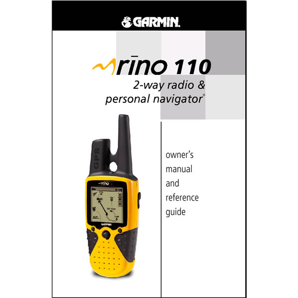Garmin Rino 110 Manual French
