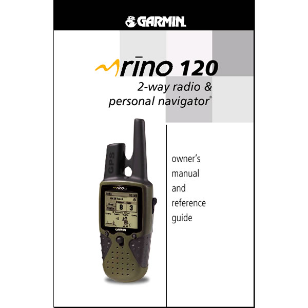 Garmin Rino 120 Manual English