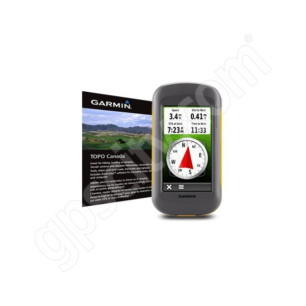 Garmin Montana 600 with Canada Topo DVD