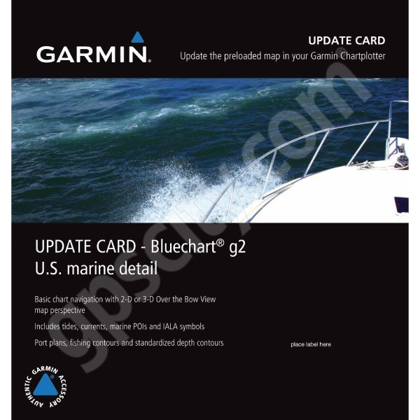 Garmin US Marine Detail Map Bluechart g2 Update Card
