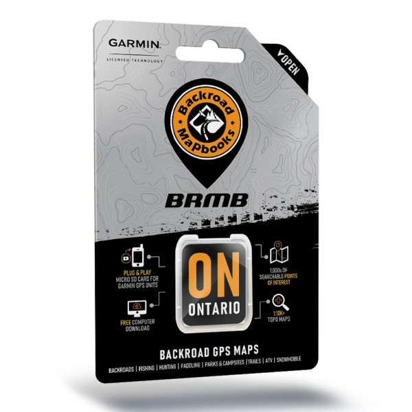 Backroad GPS Maps Ontario microSD with SD Adapter