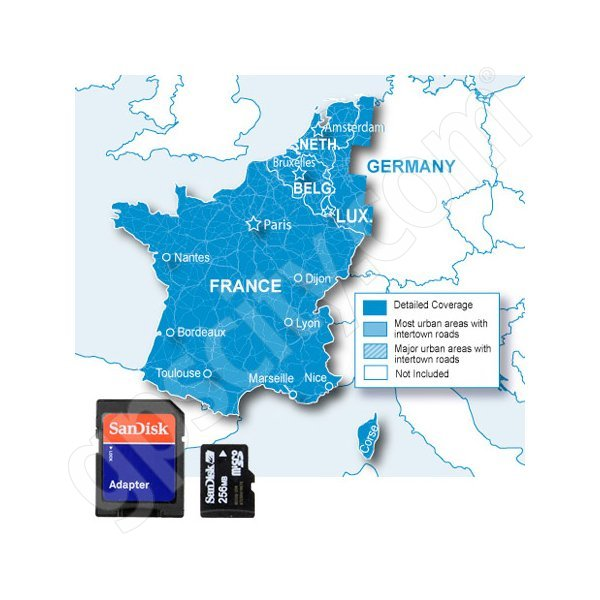 Garmin microSD City Navigator BeNeLux France NT Card Additional Photo #1