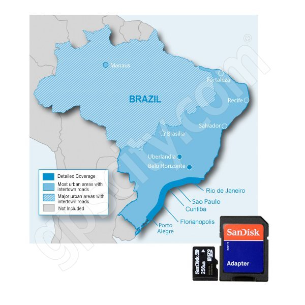 Garmin microSD City Navigator Brazil NT 2012 Card with SD Adapter