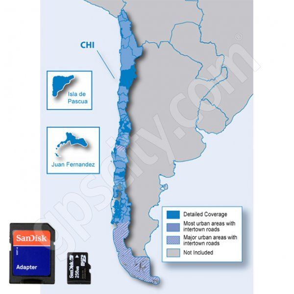 Garmin City Navigator Chile NT Card
