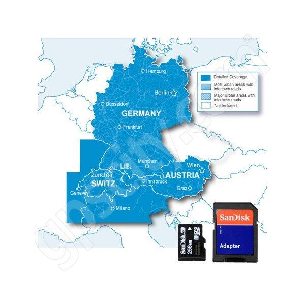 Garmin City Navigator Europe NT Alps And DACH Republic Card - Germany map for garmin
