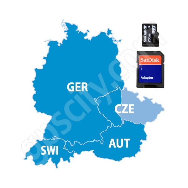 Garmin City Navigator Europe NT Germany And Czech Republic Card - Germany map for garmin