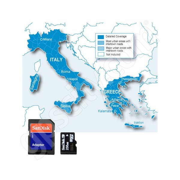 Garmin SD City Navigator Europe NT Italy and Greece Card