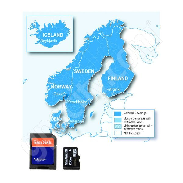 Garmin MicroSD City Navigator Europe NT Nordics Card - Sweden map for garmin