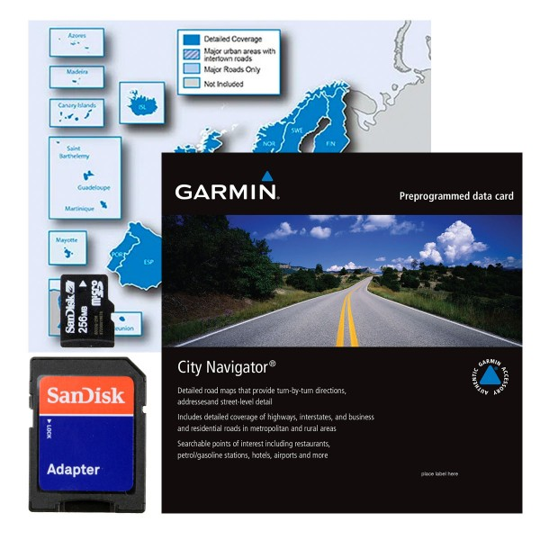 MicroSD City Navigator Europe NT Card With Adapter - Germany map for garmin