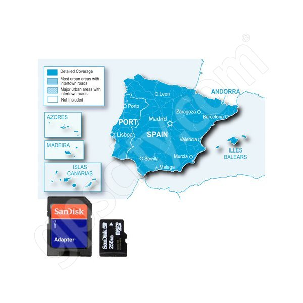 microSD City Navigator Europe NT Spain and Portugal Pre-Programmed Card  with Adapter