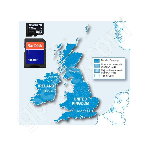 Garmin microSD City Navigator Europe NT UK and Ireland Card