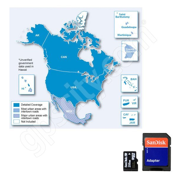Garmin UPDATE microSD City Navigator USA and Canada NT 2012 Card