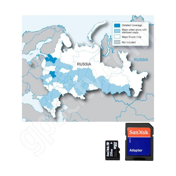 Garmin microSD City Navigator Russia NT with Adapter