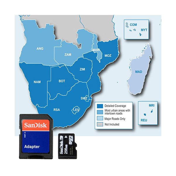 Garmin microSD City Navigator NT South Africa with Adapter