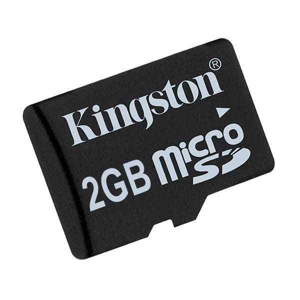 Kingston 2GB microSD Data Card with Adapter
