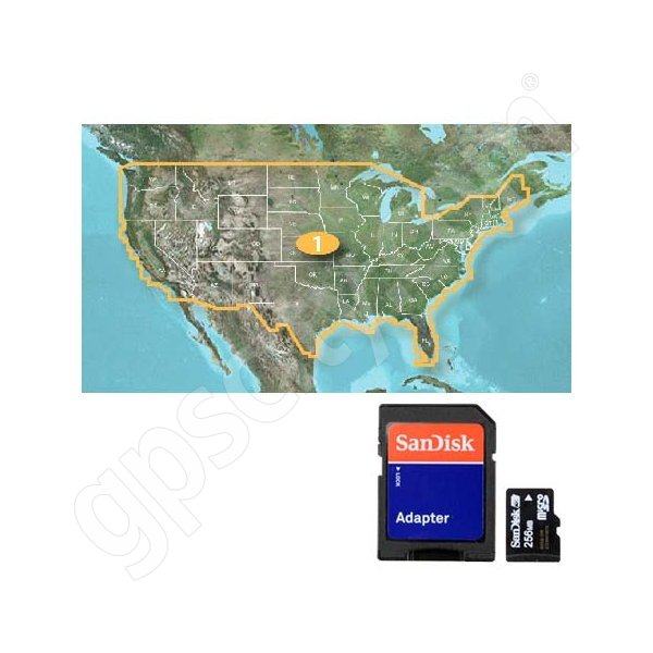 Garmin U.S. Lakes Full Coverage microSD with SD Adapter