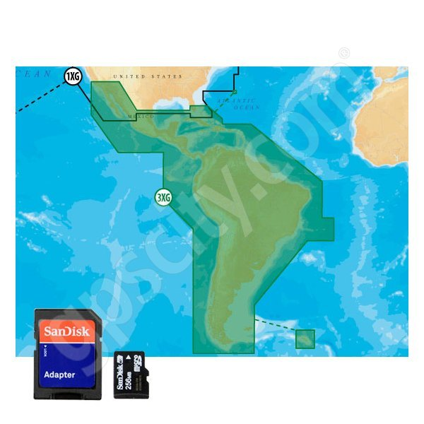 Navionics Gold 3XG microSD Central and South America