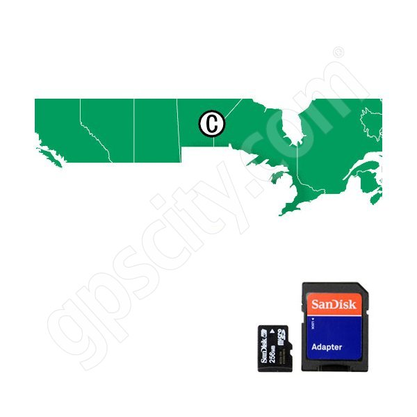 Navionics HotMaps Premium Canada Lakes microSD with SD Adapter