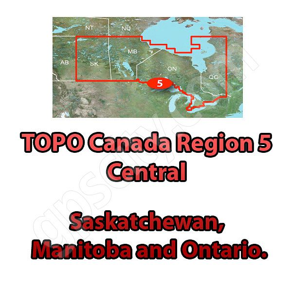 Garmin TOPO Canada Central microSD Card Region 5