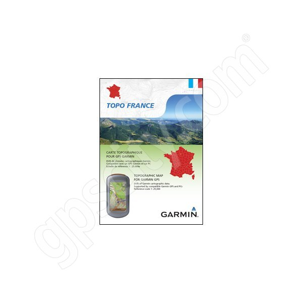 Garmin TOPO France North East DVD and microSD Card