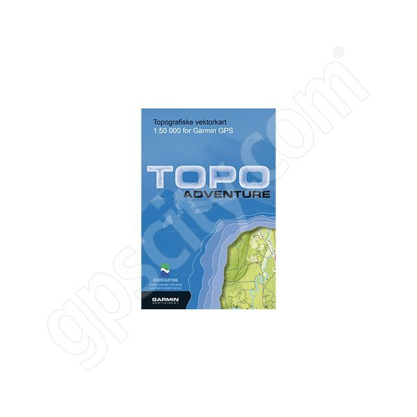 TOPO Norway Adventure Bergen CD - Norway map for garmin