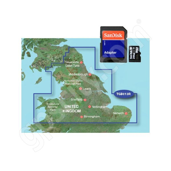 Garmin TOPO Great Britain Northern England and Midlands microSD Card