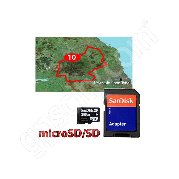 Garmin TOPO Great Britain Northumberland microSD Card