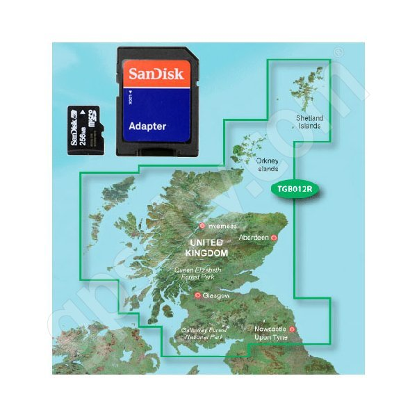 Garmin TOPO Great Britain Scotland microSD Card Additional Photo #1