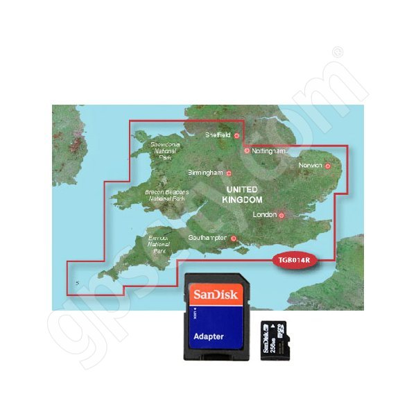 Garmin TOPO Great Britain Southern England and Wales microSD Card Additional Photo #1