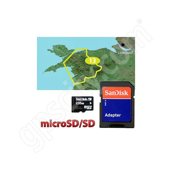 Garmin TOPO Great Britain Snowdonia National Park microSD Card