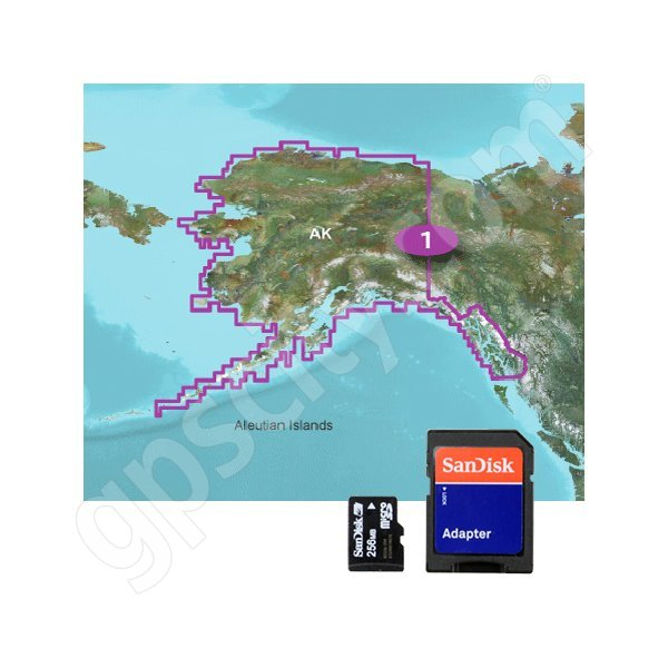 Garmin TOPO US 100K Alaska microSD Card with SD Adapter