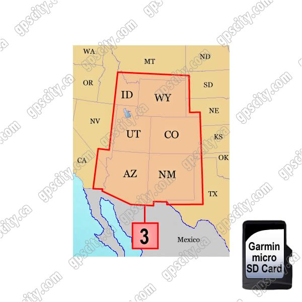 Garmin Topo Us 100k Mountain Sw Microsd Card Region 3