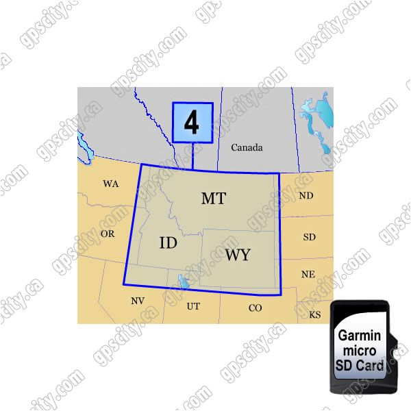 Garmin TOPO US 100K Mountain WN microSD Card Region 4