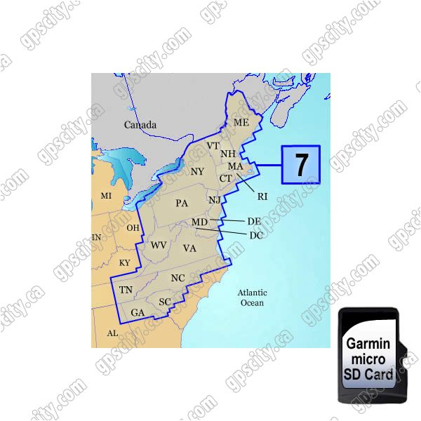 Garmin Topo Us 100k Upper East Coast Microsd Card Region 7