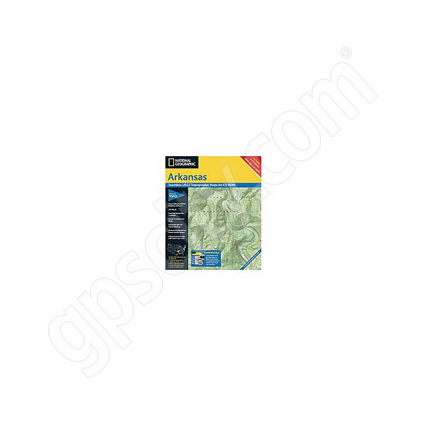 National Geographic Topo! Arkansas for WINDOWS