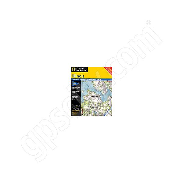 National Geographic Topo! Illinois for WINDOWS