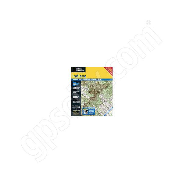 National Geographic Topo! Indiana for WINDOWS