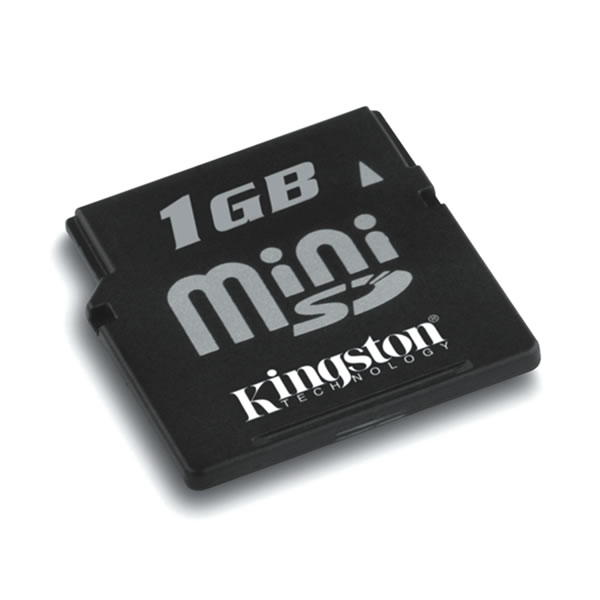 Kingston 1GB miniSD Data Card with Adapter