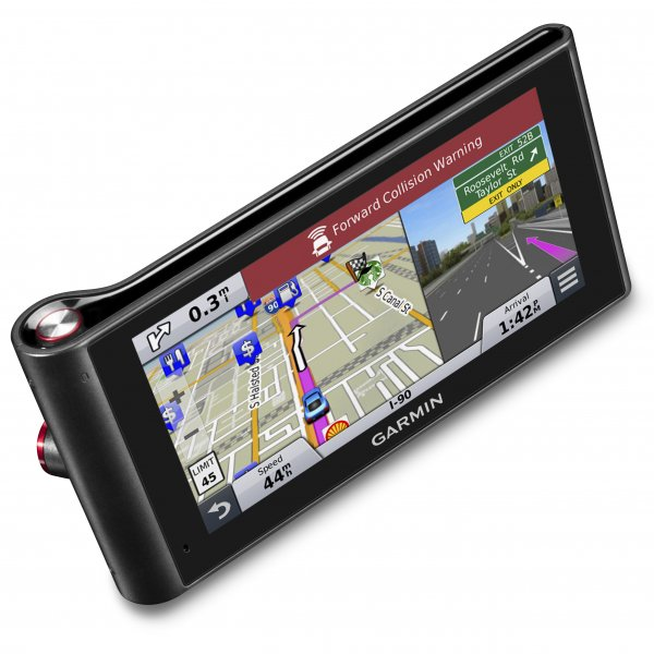 nuviCam LMTHD Prestige Series Auto Navigator with 6 inch Glass Display and  Built-In Dash Camera