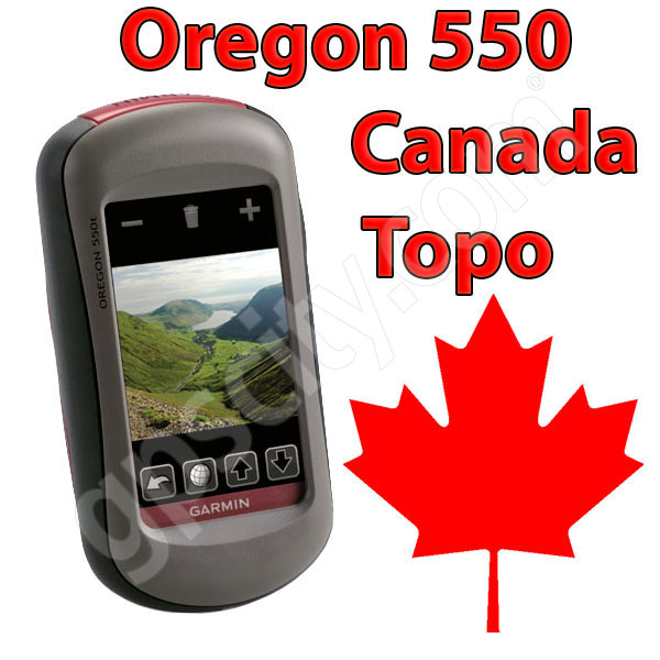 Garmin Oregon 550 with Camera and Canada Topo