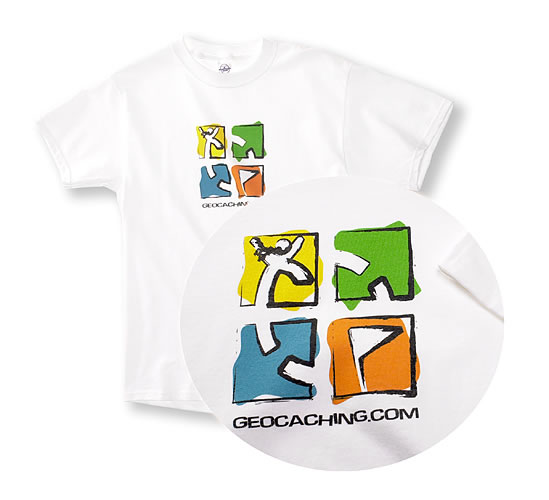Geocaching Crayon T-Shirt White Short 3XL