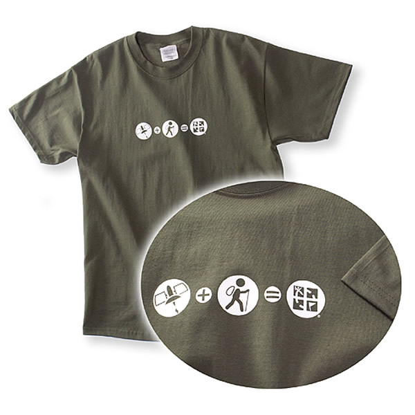 Geocaching Olive Plus T-Shirt L