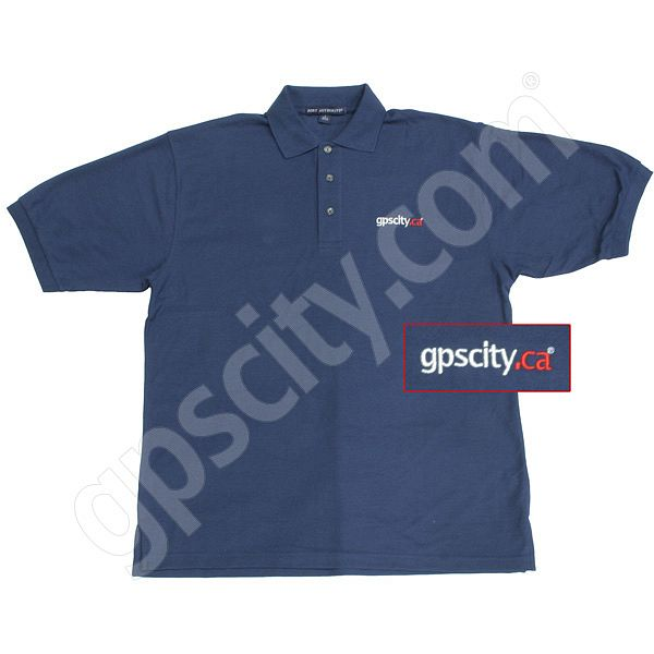 GPS City GPSCity.ca Navy Short Sleeve Polo Golf Shirt L